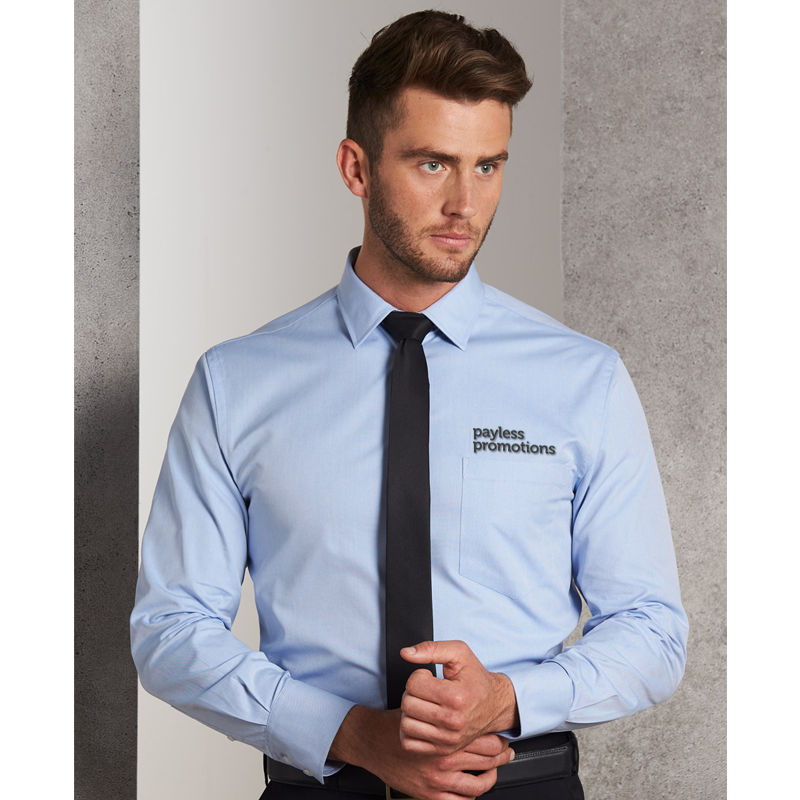 M7040L Oxford Embroidered Button-Up Shirts - Benchmark Range