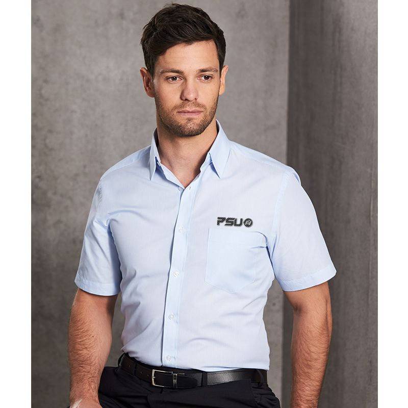 M7211 Fine Stripe Embroidered Corporate Shirts - Benchmark Range