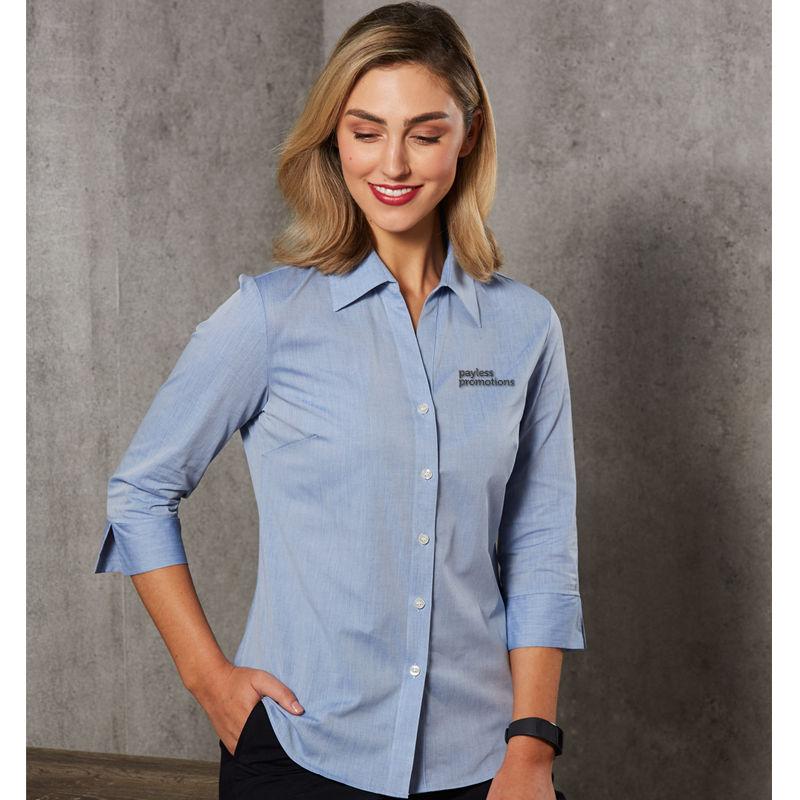 M8013 Ladies Fine Chambray Business Shirts - Benchmark Range