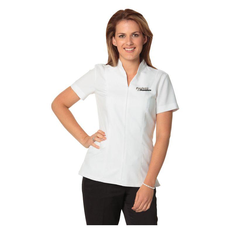 M8636S Ladies Full Zip Printed Tunics