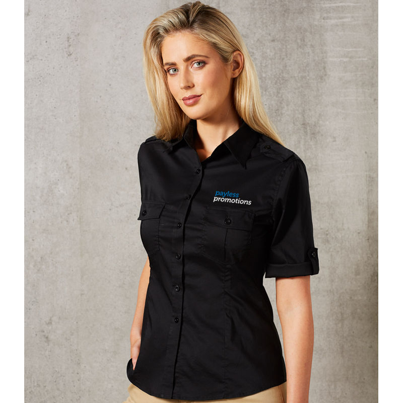 M8911 Ladies Military Corporate Shirts With Stretch - Benchmark Range