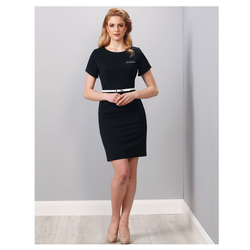 M9282 Ladies Poly/Viscose Business Dresses With Stretch
