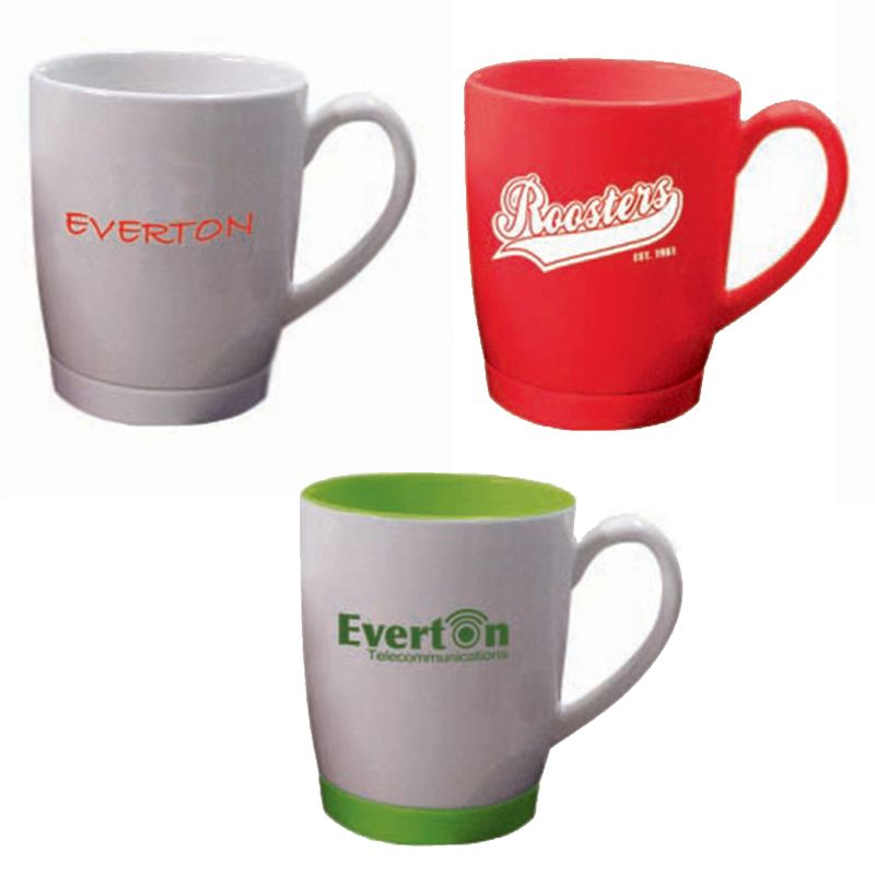 MG1602 330ml Office Logo Coffee Mugs With Non Slip Silicon Base