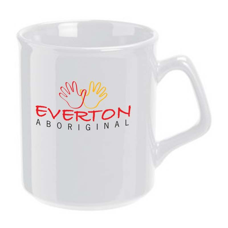 MG7101W 320ml White Flare Printed Coffee Mugs