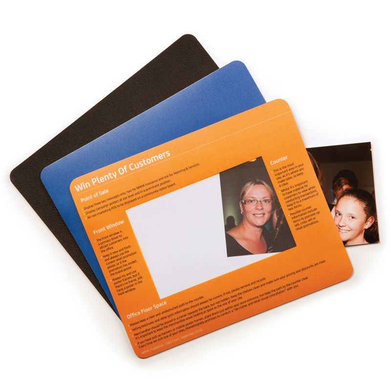 MM109A Photo Frame (230 x 190mm) Personalised Mouse Pads With Rubber Base