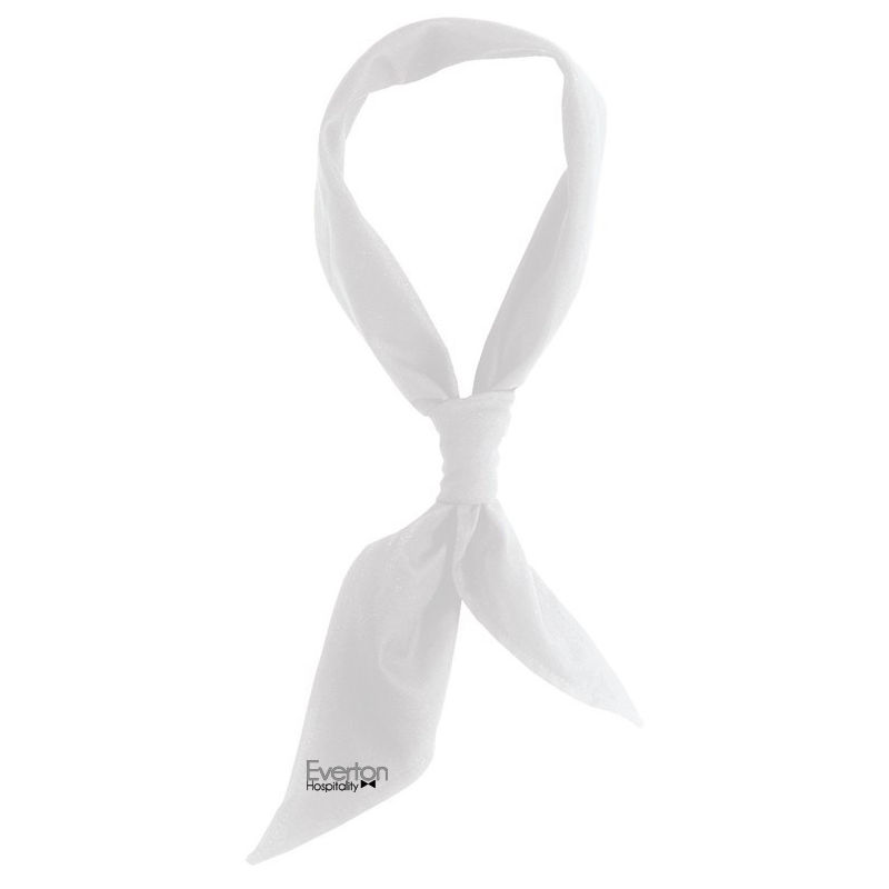 NECC-W Regular White Logo Chefs Scarves