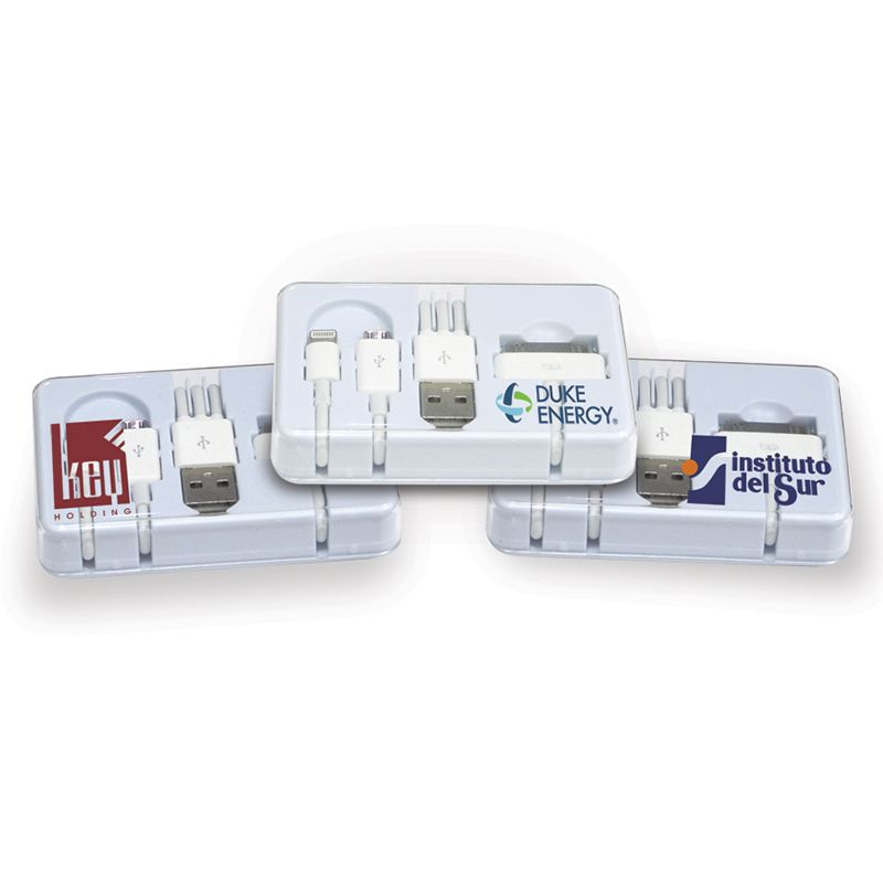NP117 3-In-1 USB Promotional Phone Chargers