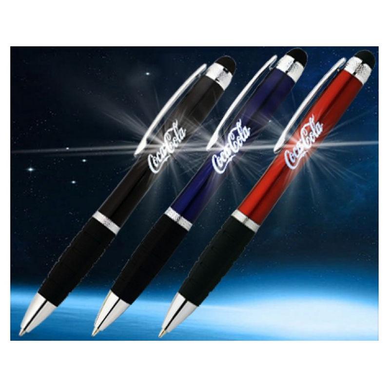 P06 Shining Illuminated Stylus Logo Pens