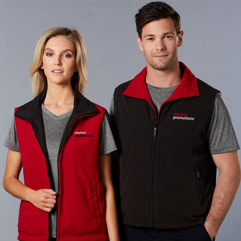PF04A Unisex Reversible Custom Polar Fleece Vests