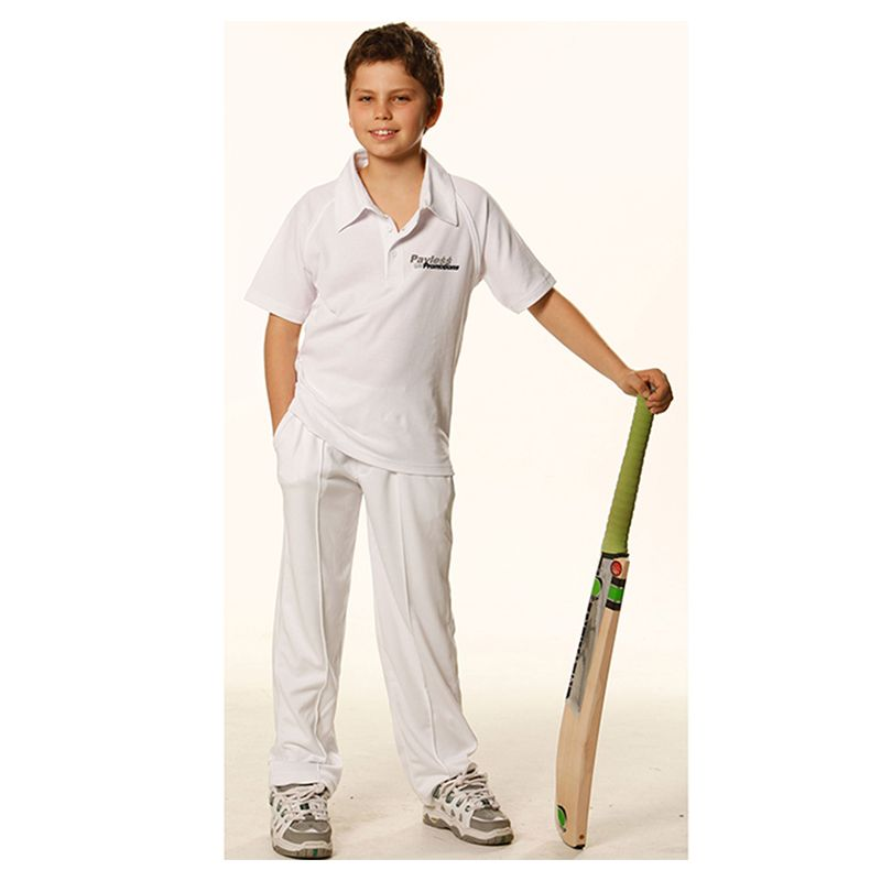 PS29K Kids TrueDry Mesh Knit Short Sleeve Cricket Jerseys
