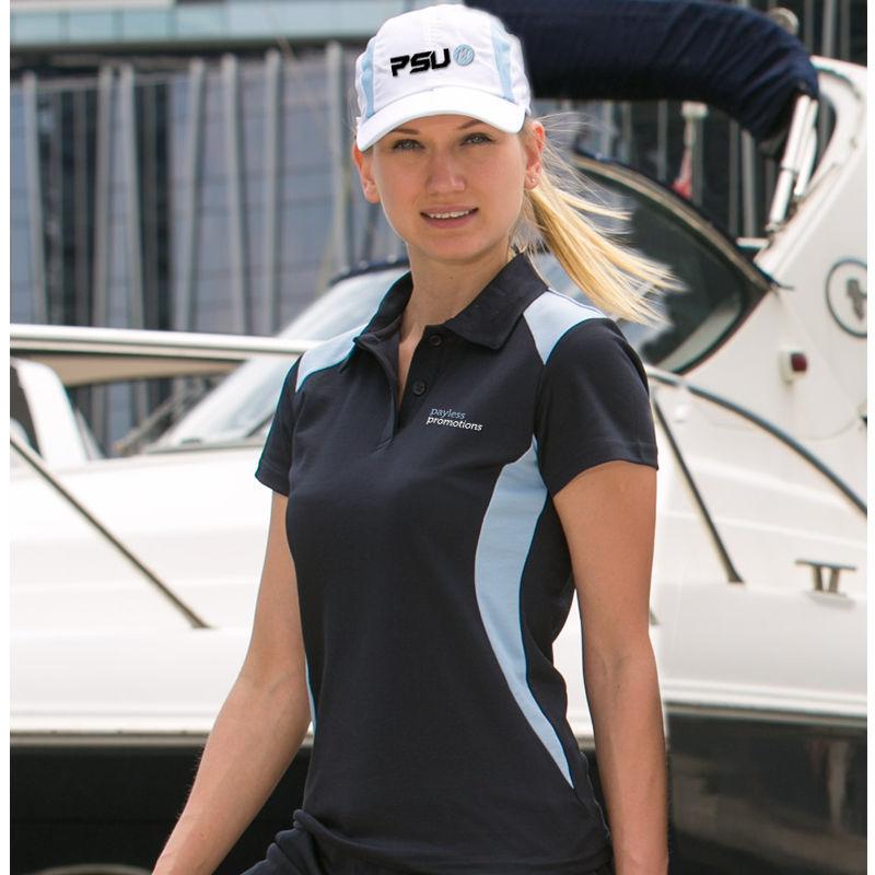 PS32A Ladies Winner TrueDry Contrast Short Sleeve Uniform Polo Shirts