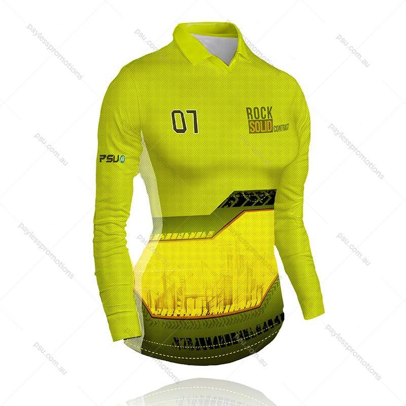 PS4-L Ladies Full-Custom Sublimation Long Sleeve Polo Shirts - X Series Elite