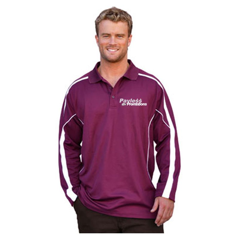 PS69 Legend TrueDry Long sleeve Embroidered Polos
