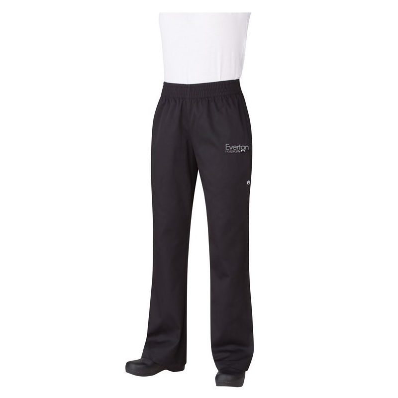PW005 Ladies Essential Baggy Logo Chefs Pants