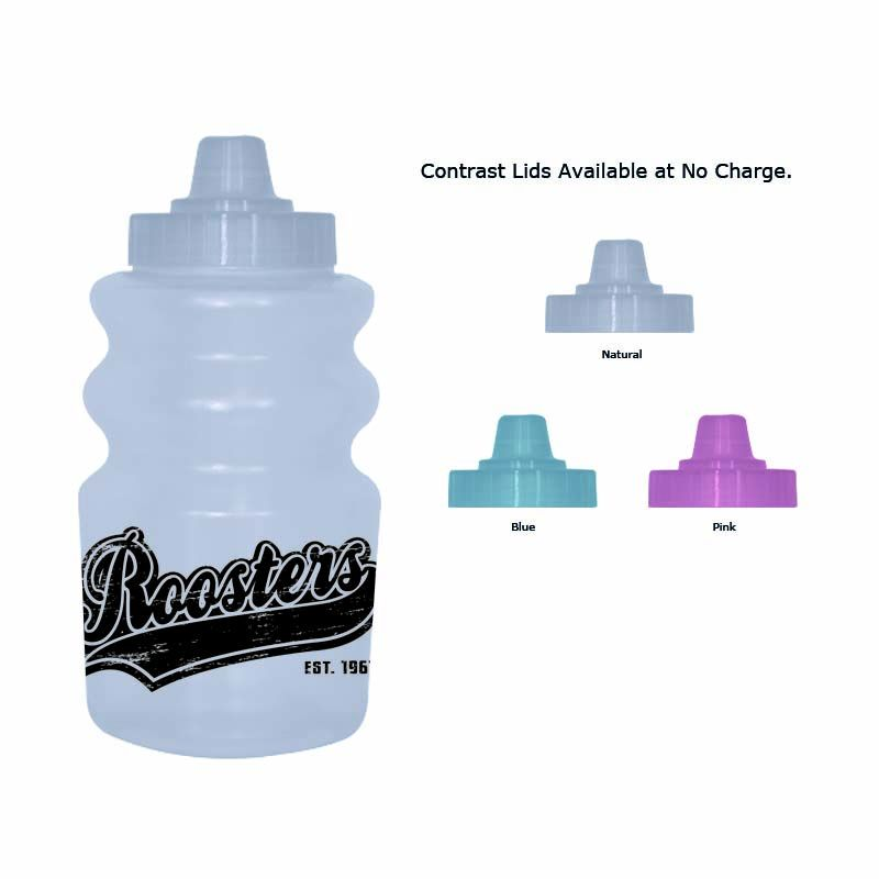 QT325JS-T QT Semi-Transparent Jet Stream Printed Drink Bottles - 325ml
