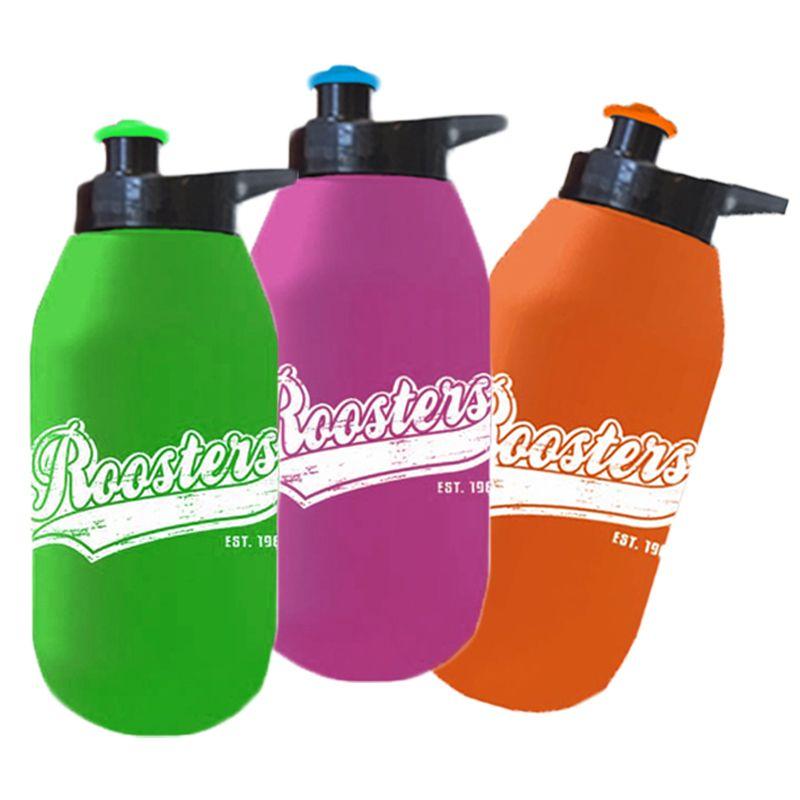 R500EG Retro Pop-Top Printed Drink Bottles With Ezy Grip Lid - 500ml