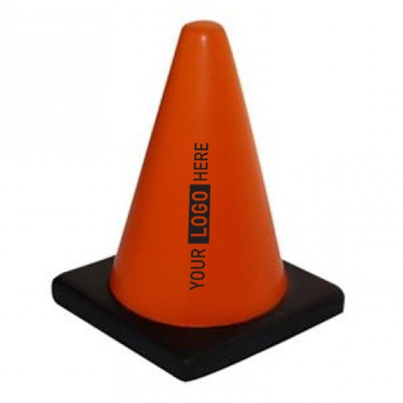S118 Traffic Cone Printed Trades Stress Balls