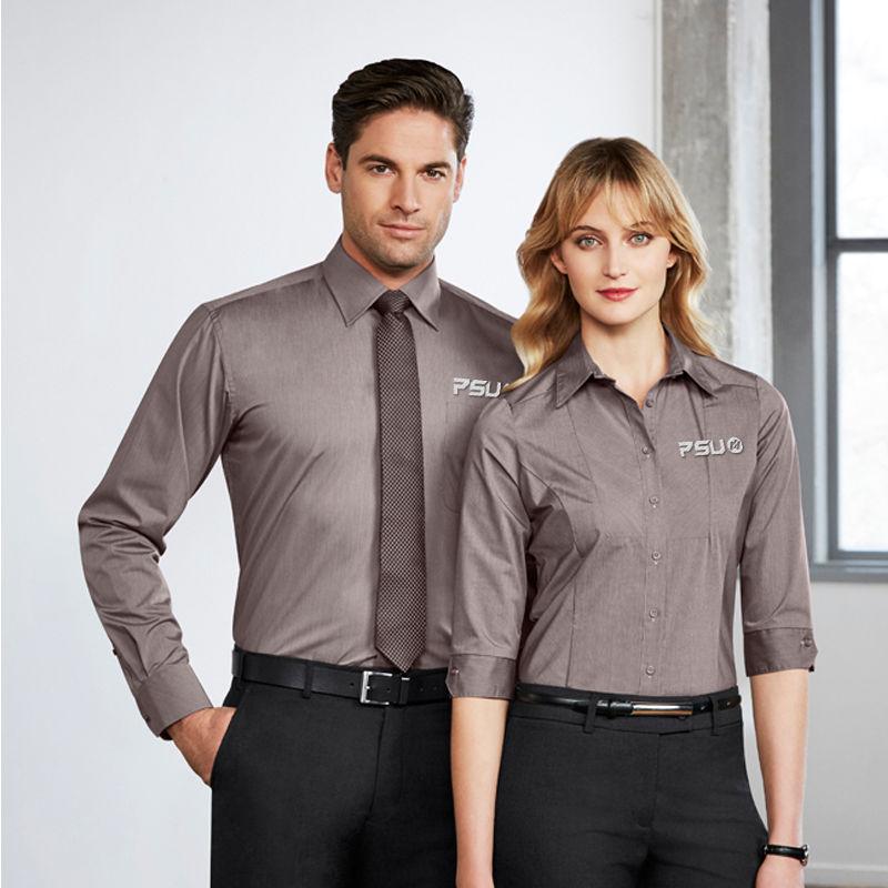 S122ML Chevron Mens L/S Business Shirts
