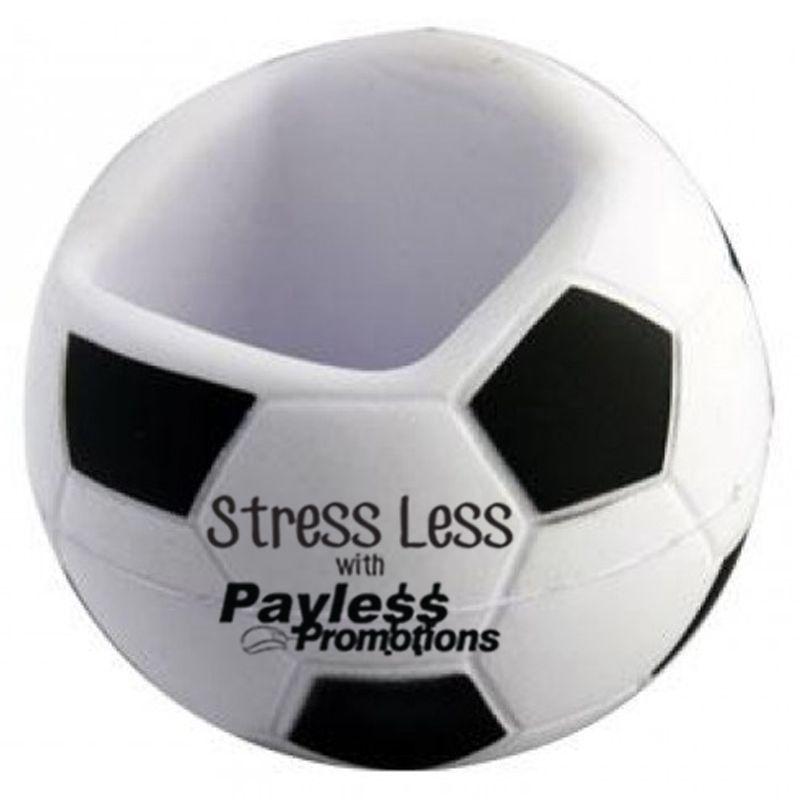 S131 Soccer Printed Mobile Phone Holder Stress Balls