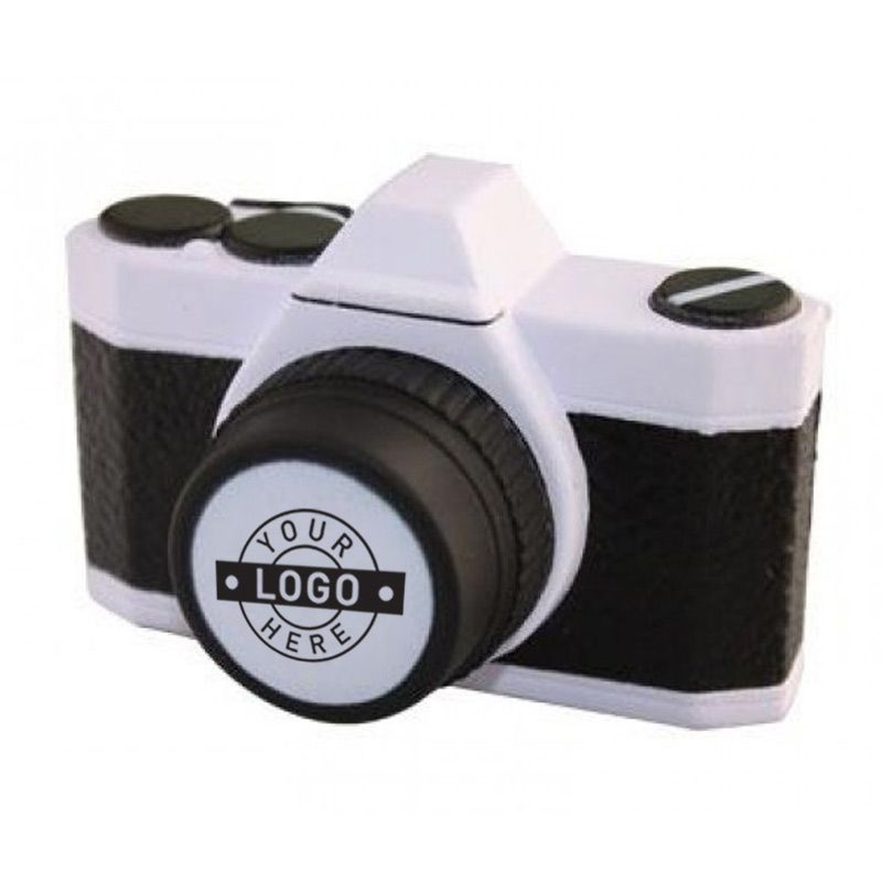 S166 Camera Printed Travel Stress Balls
