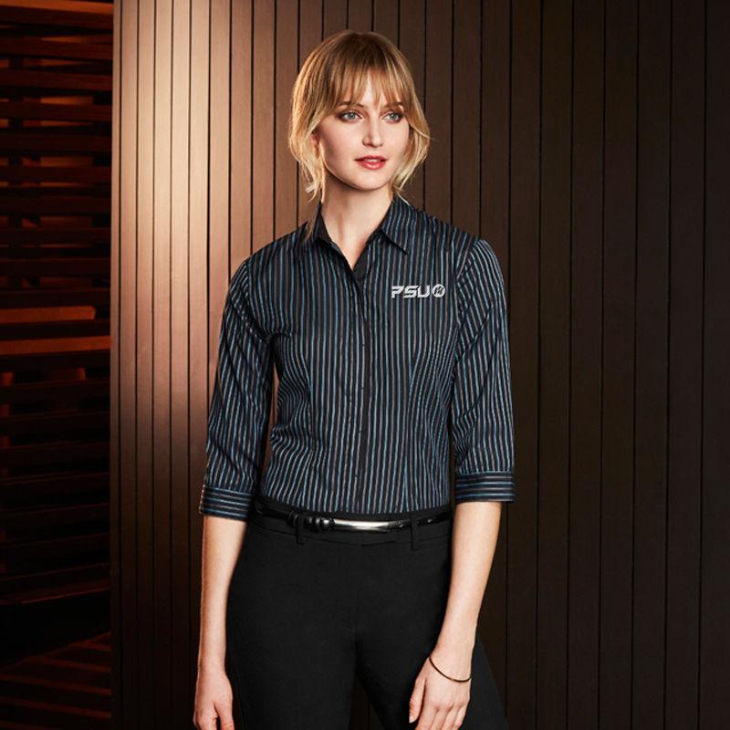 S415LT Ladies Reno Stripe Business Shirts
