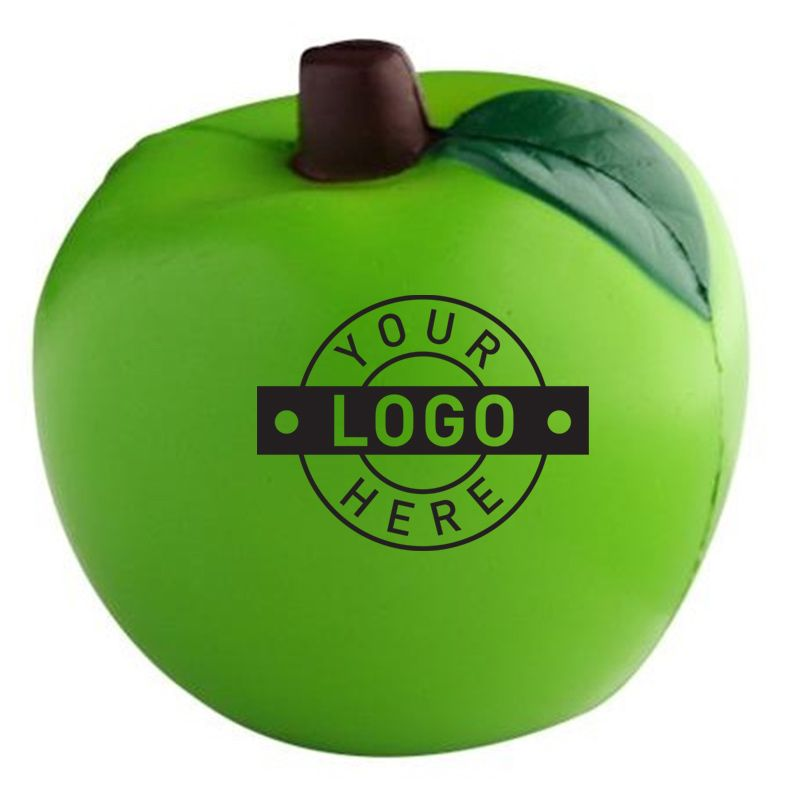 S48B Apple Green Printed Food Stress Balls