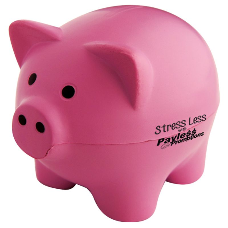 S66 Pink Pig Personalised Animal Stress Shapes