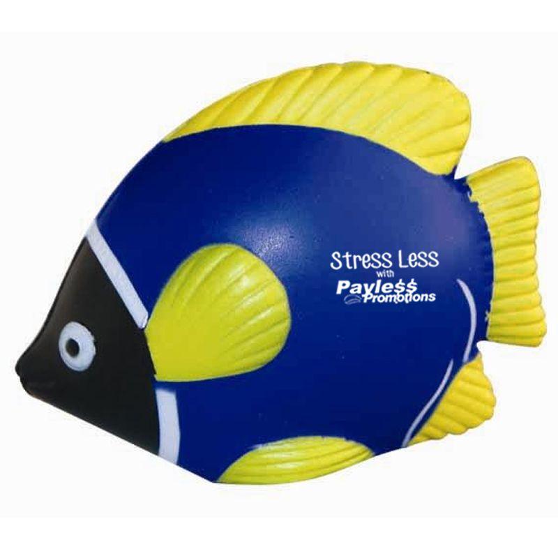 S68 Tropical Fish Printed Animal Stress Shapes Blue