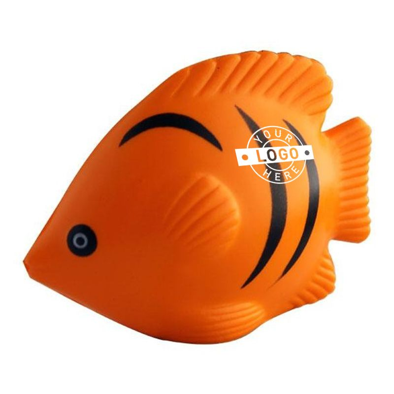 S69 Tropical Fish Promotional Animal Stress Shapes Orange