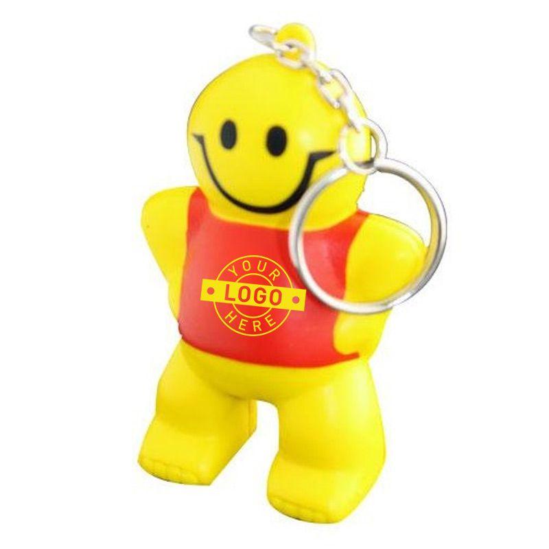 S82 Little Man Keyring Custom People Stress Shapes