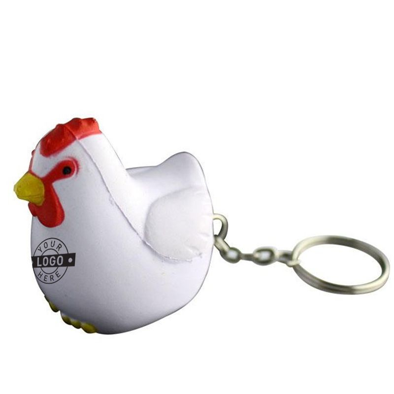 S83 Rooster Keyring Custom Animal Stress Balls