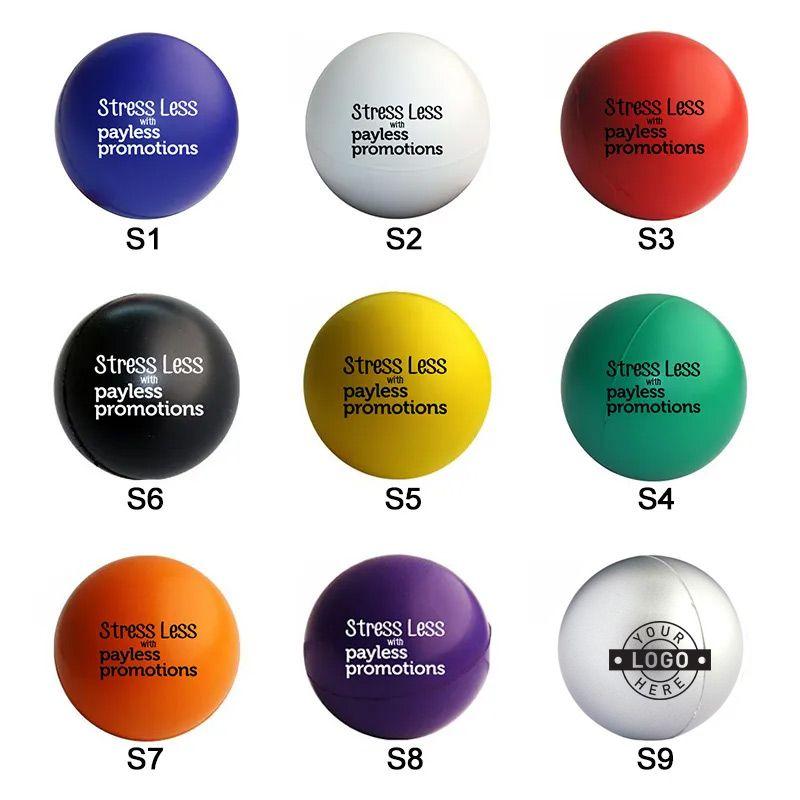 SB Standard Personalised Round Stress Balls