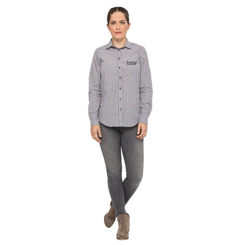 SHC05W Gingham Ladies Button-Up Shirts