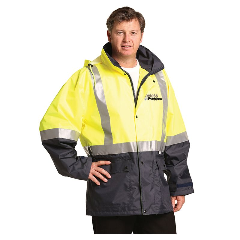 SW18A Day & Night Branded Hi Visibility Jackets With 3M Reflective Tape & Conceled Hood