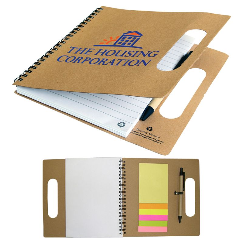 T931 Heavy Duty Custom Enviro Notepads With Eco Pen - 75 Pages