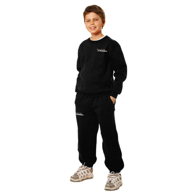TP01K Kids Eagle Fleecy Embroidered Track Pants