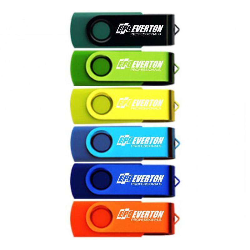 U06-32G-2.0 32 Gig Coloured Swivel Printed USB Flash Drives 2.0