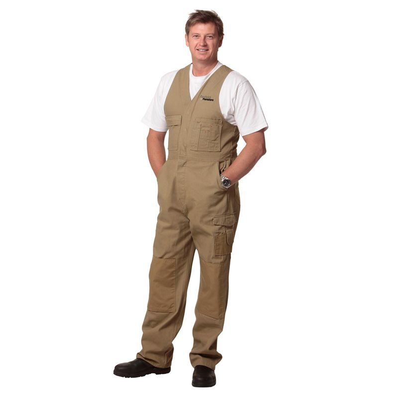WA04 Action Back Premium cordura Canvas Personalised Work Wear Overalls