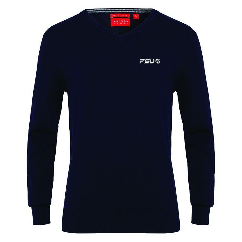 VJECR01 Van Heusen Casual Custom Knitted Jumpers - Navy Only