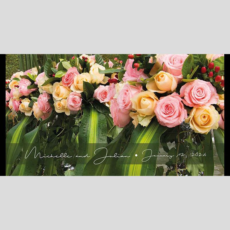 WD14 Flowers Wedding Stubby Holders