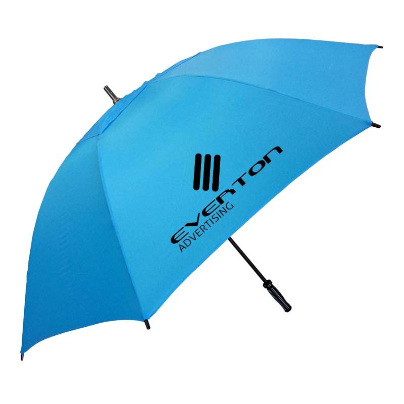 WG006 Hurricane Deluxe Vented Branded Golf Umbrellas With Fibreglass Shaft & Ribs