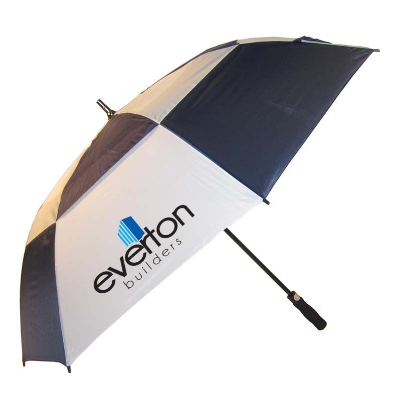 WG0095 Typhoon Vented Auto-Open Promotional Golf Umbrellas With Fibreglass Shaft & Ribs