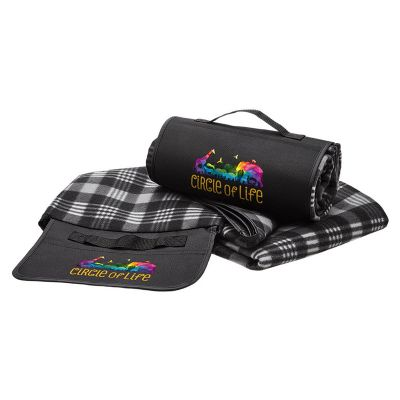 1088 Polar Fleece Foldable Branded Picnic Blankets