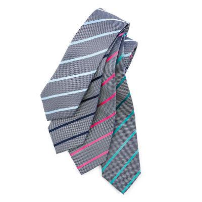 99102 Single Contrast Stripe Printed Ties