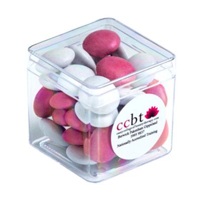 CC013B2H Smarties Look-Alike (Corporate Colours) Filled Hard Branded Cubes - 60g