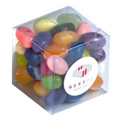CC013L Jelly Belly Beans Filled Soft Branded Cubes - 60g