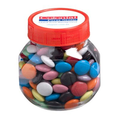 CC026B2 Smarties Look-Alike (Mixed Colours) Filled Plastic Corporate Jars - 170g