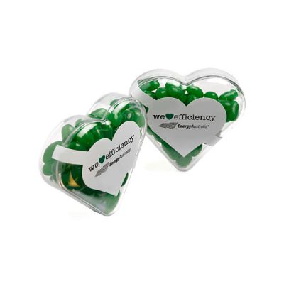 CC030A1 Jelly Bean Filled Branded Hearts - 50g