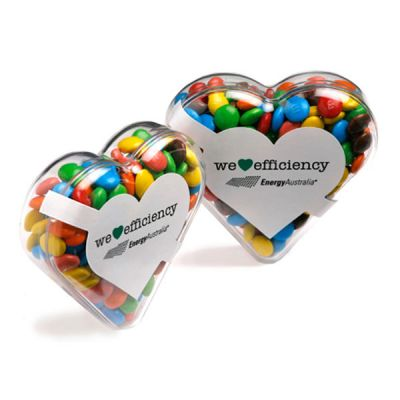 CC030D1 Mini M&M Filled Branded Hearts - 50g