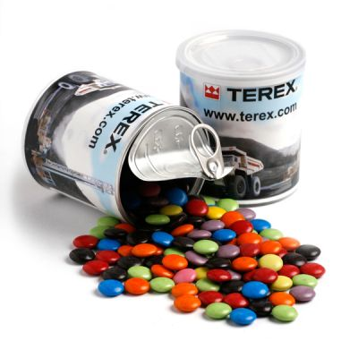 CC045C Smarties Look-Alike (Mixed Or Corporate Colours) Filled Branded Cans - 200g